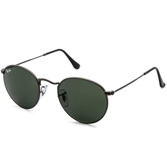 35962820f77d3 105a3d27d5919f9a98f93228ef879056 1.jpg. oiOferta   Moda e Acessórios    Óculos de Sol   Óculos Unissex. Óculos Ray Ban Round RB 3517 - Modelo  Unissex com ...