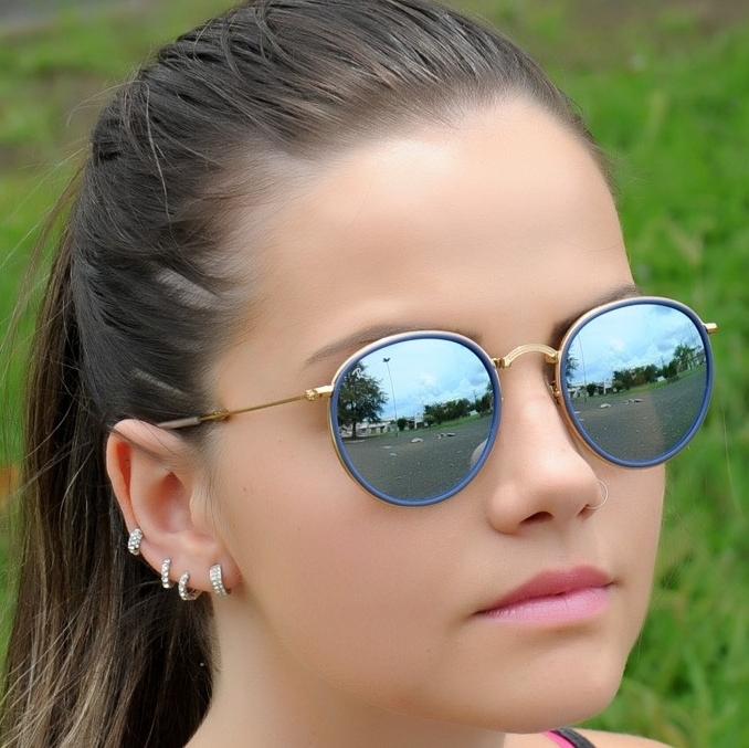 434d805fe66fc oiOferta   Moda e Acessórios   Óculos de Sol   Óculos Unissex. Óculos Ray  Ban Round RB 3517 - Modelo Unissex com ...
