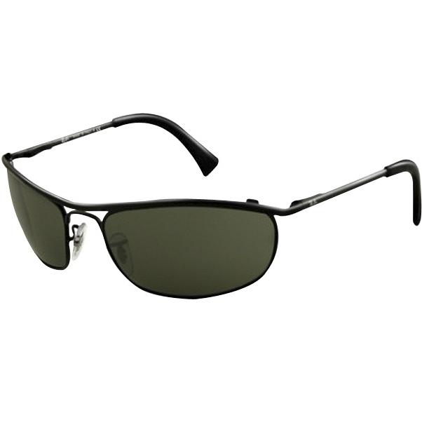 fe20175e78cac Óculos Ray Ban Demolidor 3339 - Modelo Unissex com Armação Preta e Lentes  Cristalizadas Verde