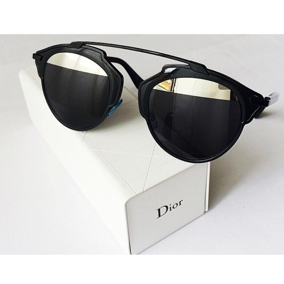 27b370523df97 oiOferta    Óculos de Sol Christian Dior Modelo So Real Preto Espelhado