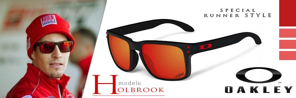 oiOferta    Óculos Oakley Holbrook com Armação Preta Fosca e Lentes  Polarizadas Vermelho Espelhado e0606de356