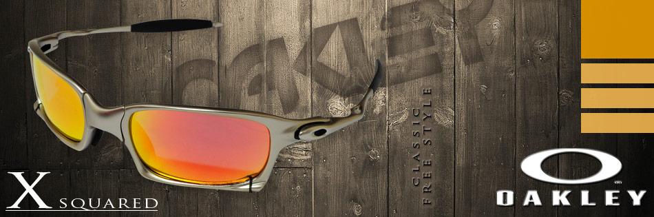 Acaba de chegar o mais novo membro da linha X-Metal o X Squared! Ele é um  modelo muito parecido com o Juliet, um dos óculos mais famosos da Oakley,  ... dee53a740d