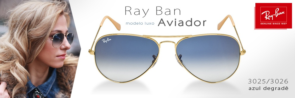 504c3b103b Esta oferta é para quem tem estilo e classe, os óculos estilo Ray Ban podem  ser vistos nos rostos mais famosos e descolados do mundo.