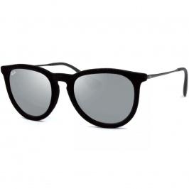 afde2260d Óculos Ray Ban Erika Velvet 4171 - Modelo Feminino com Armação Preta Veludo  e Lentes em Espelhadas