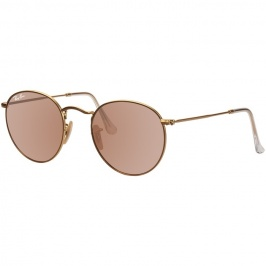82c00c8210 Óculos Ray Ban Round RB 3517 - Modelo Unissex com Lentes Rosa
