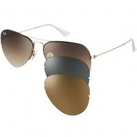 Óculos Ray Ban Aviador Tech 3x1 3460 - Modelo Unissex com Armação Dourada e  Lentes em 7ef3b283c4
