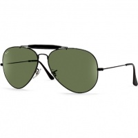 2670f159f8 Óculos Ray Ban Caçador 3029 - Modelo Unissex com Armação Preta e Lentes  Cristalizadas Verde