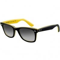 Óculos Ray Ban Wayfarer 2140 - Modelo Unissex com Armação Preta e Amarela e  Lentes em 2420037b11