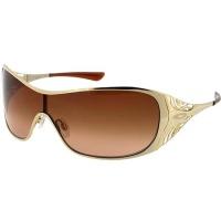 55aab9937 Óculos Oakley Liv Polished Gold com Armação Dourada e Lentes Polarizadas  Marrom