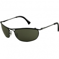 da13318623 Óculos Ray Ban Demolidor 3339 - Modelo Unissex com Armação Preta e Lentes  Cristalizadas Verde