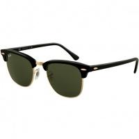 4ace19137 Óculos Ray Ban Clubmaster 3016 - Modelo Unissex com Armação Preta e Lentes  Cristalizadas Verde