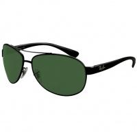 Óculos Ray Ban Aviador 3386 - Modelo Unissex com Armação Preta e Lentes  Cristalizadas Verde 34b4c5ec9c