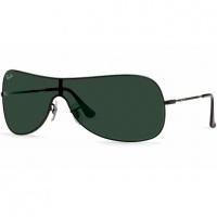 600dc47397 Óculos Ray Ban Máscara 3211 - Modelo Unissex com Armação Preta e Lentes em  Policarbonato Verde