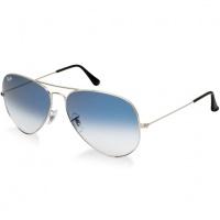 Óculos Ray Ban Aviador - Modelo Unissex com Armação Prata e Lentes  Cristalizadas Azul Degradê 2155352f11